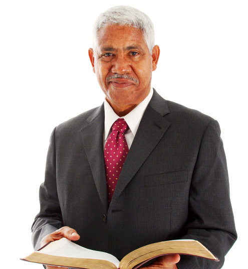 pastor with his bible